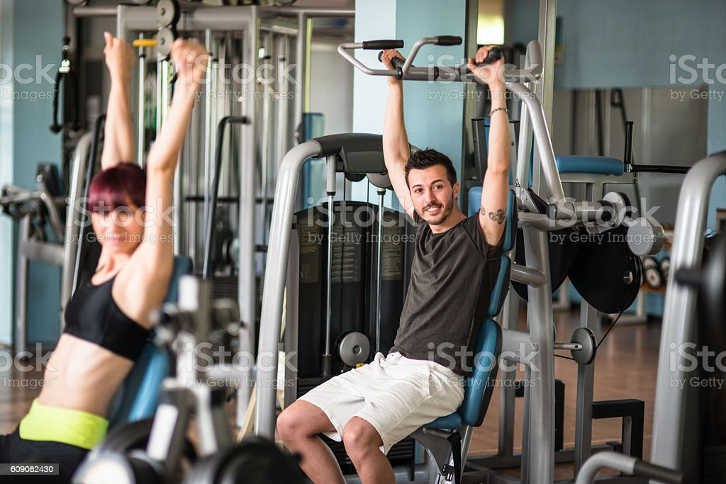 happiness woman smiling the gym stock photo