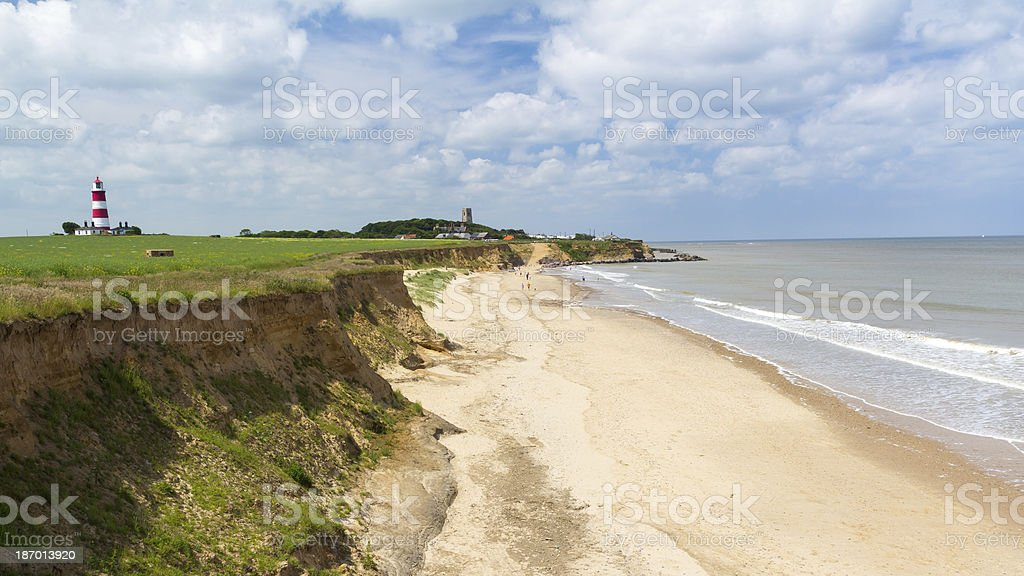 Happisburgh Beach Norfolk England stock photo