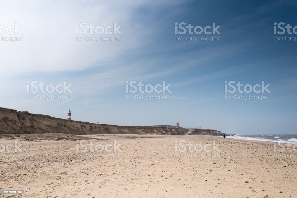 Happisburgh Beach. stock photo