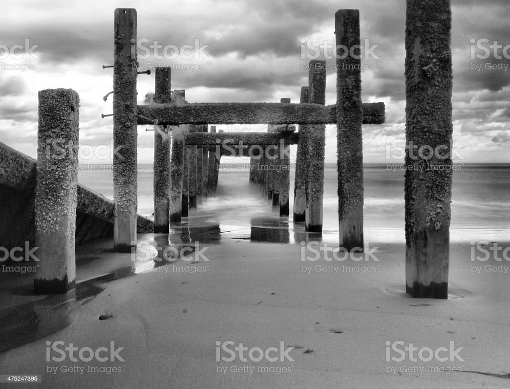 Happisburgh Groynes stock photo