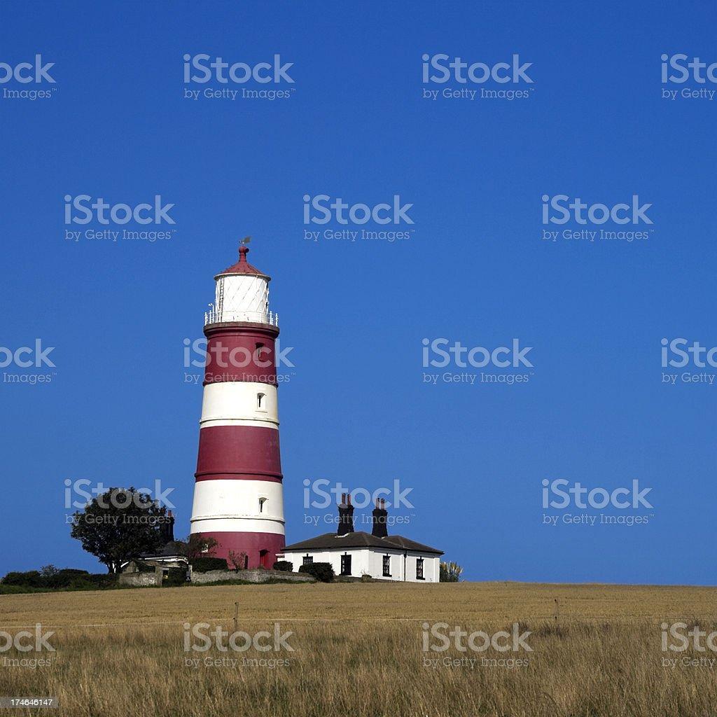 Happisburgh lighthouse royalty-free stock photo
