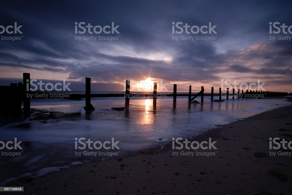Happisburgh Sunrise stock photo