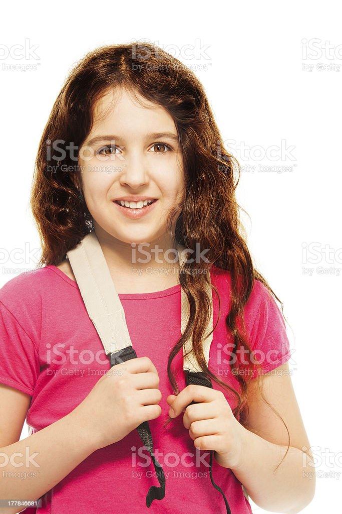 Happy 11 years girl royalty-free stock photo