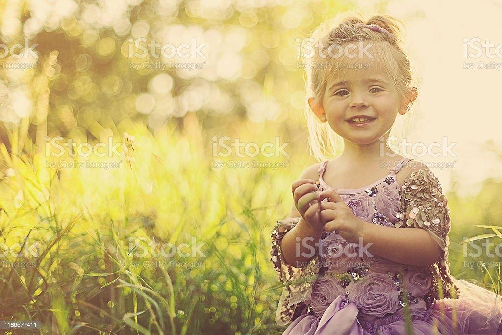 Happy 2 Year Old Girl stock photo