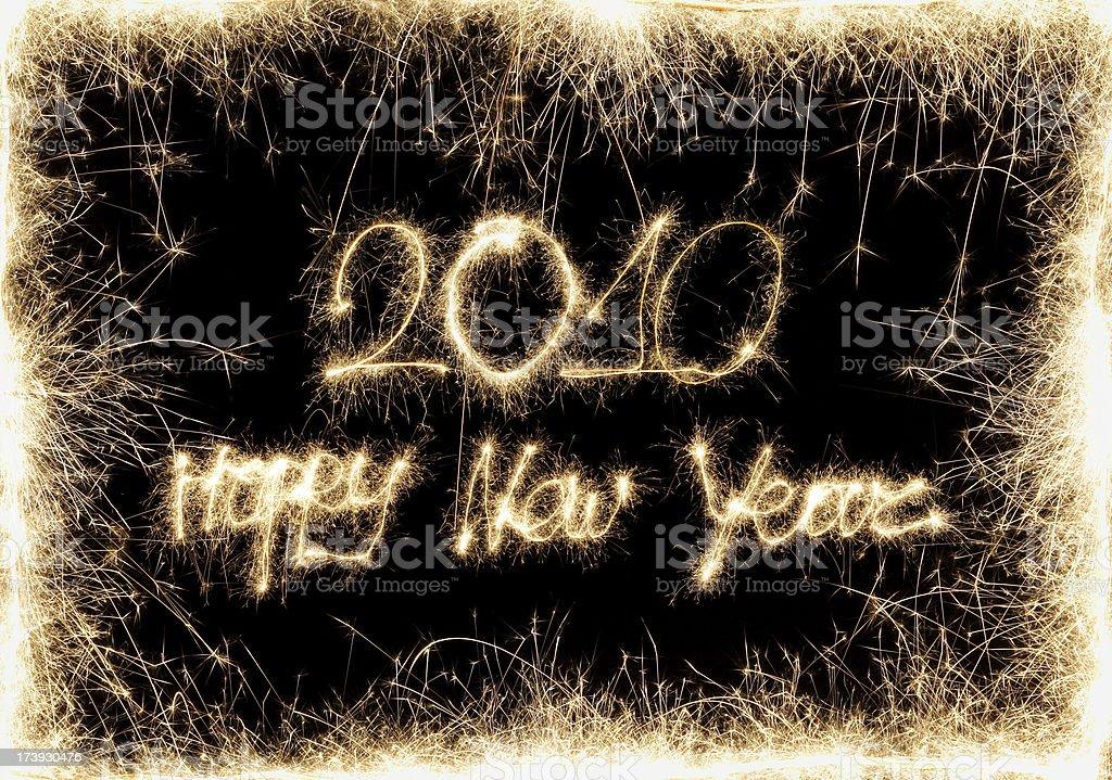Happy 2010 royalty-free stock photo