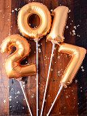 Happy 2017 gold New Year Balloon