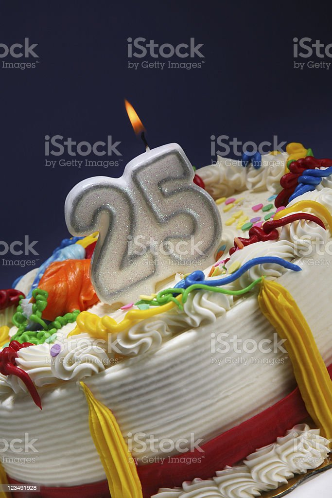 happy 25th anniversary royalty-free stock photo
