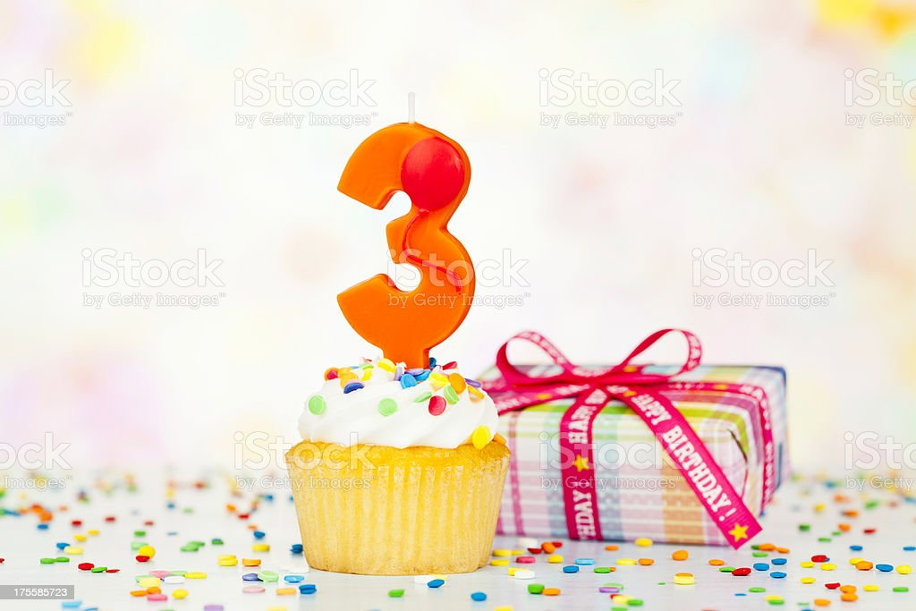Happy 3rd Birthday royalty-free stock photo