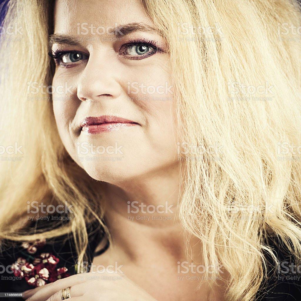 Happy 40 something woman royalty-free stock photo