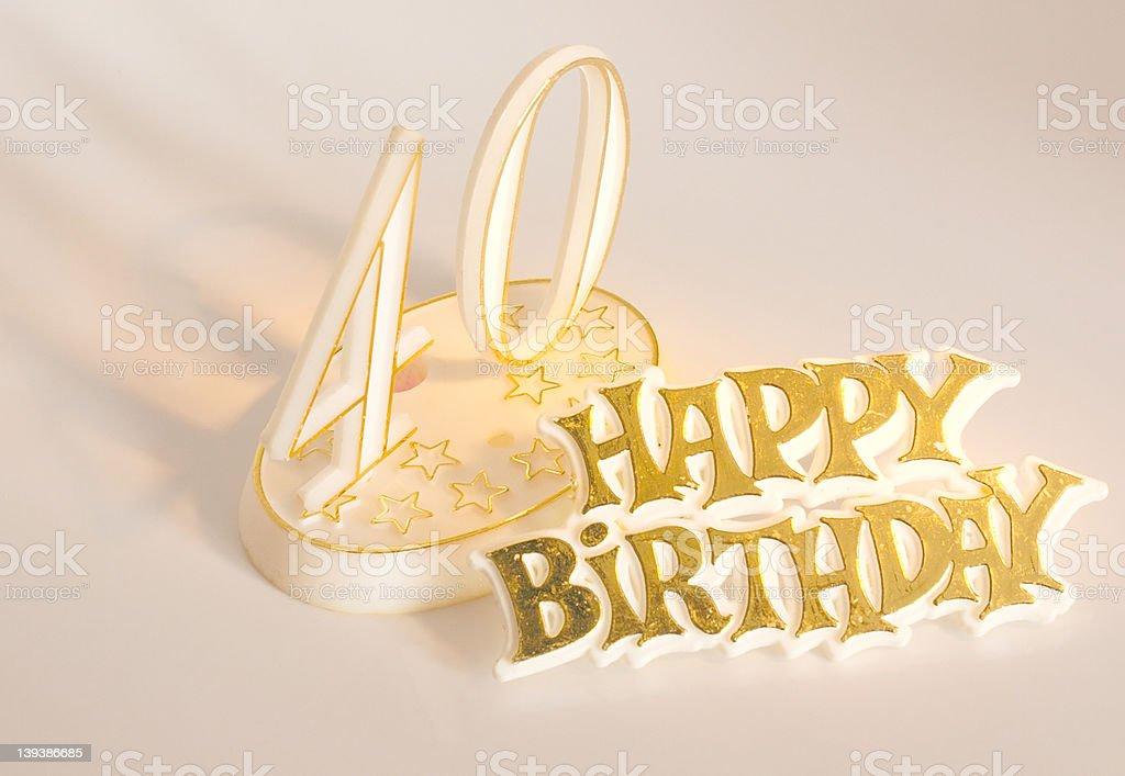 happy 40th birthday royalty-free stock photo