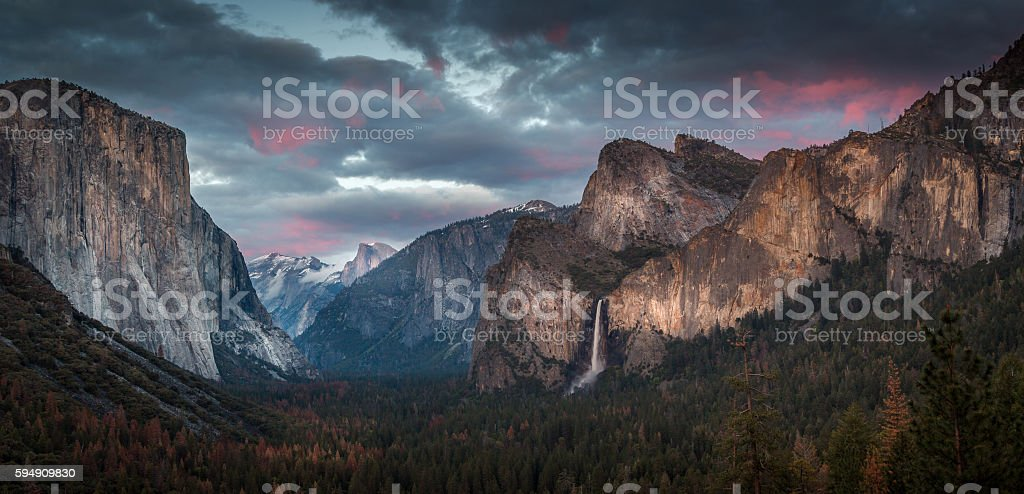 Happy 4th of July from Tunnel View stock photo