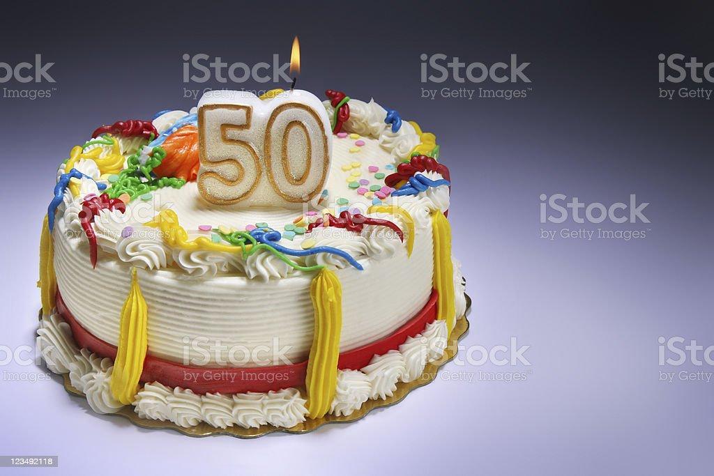 Happy 50th Anniversary or Birthday stock photo