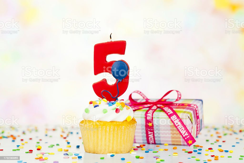 Happy 5th Birthday stock photo