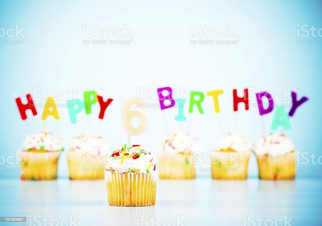 Happy 6th Birthday royalty-free stock photo