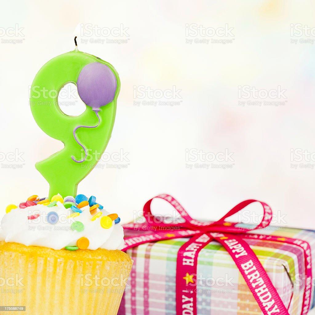 Happy 9th Birthday royalty-free stock photo