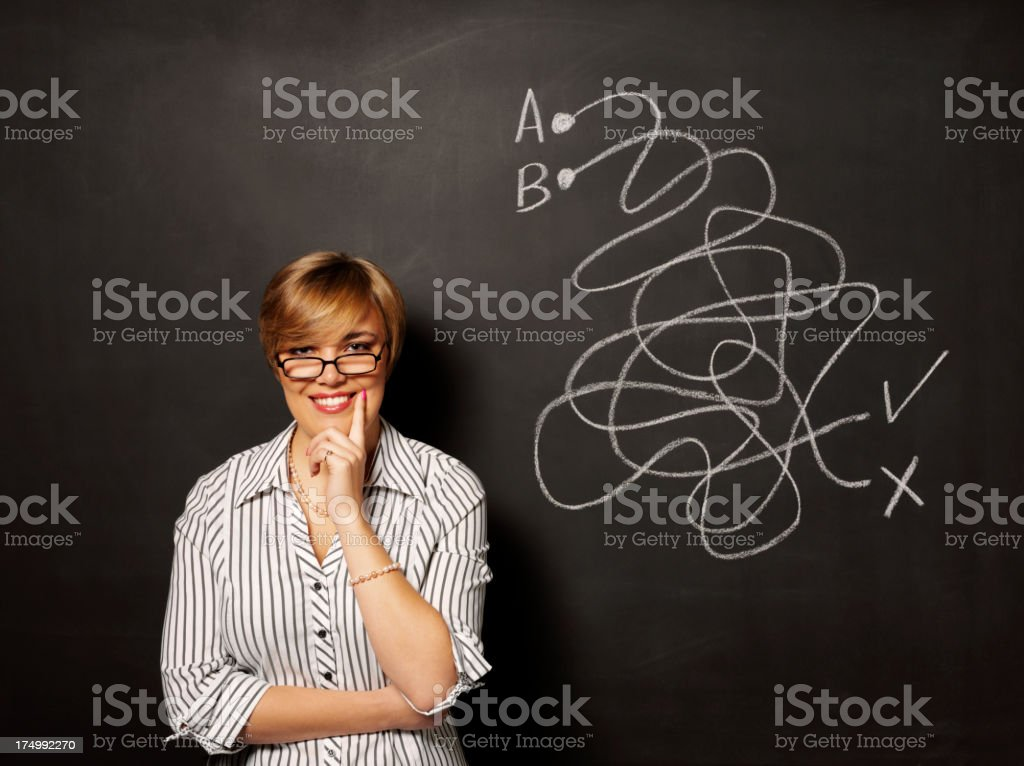 Happy about the Puzzle Outcome royalty-free stock photo