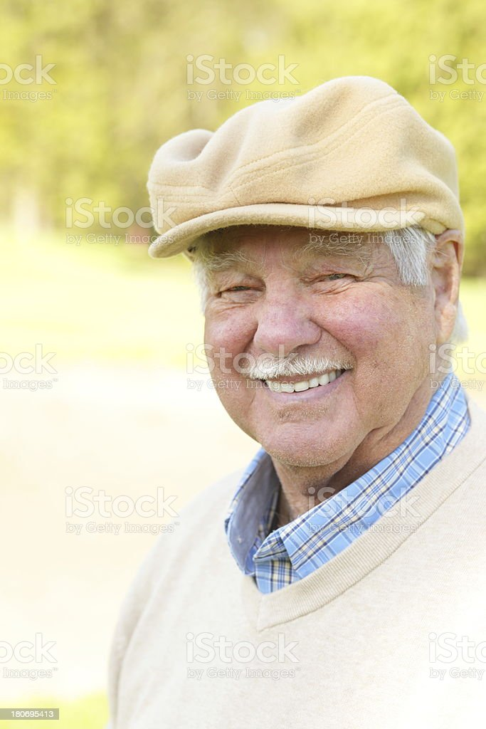 Happy active senior royalty-free stock photo