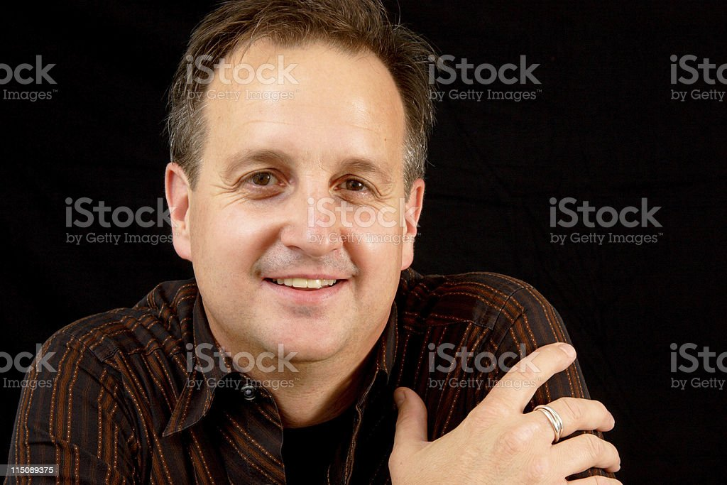 happy adult male portrait royalty-free stock photo