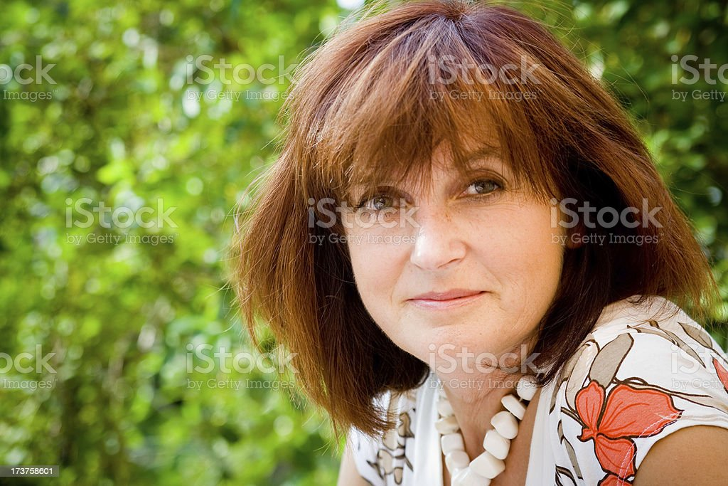 happy adult woman portrait stock photo