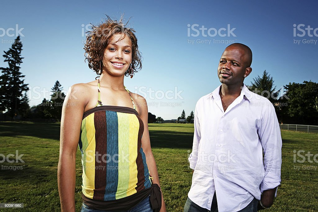 Happy African American Couple royalty-free stock photo