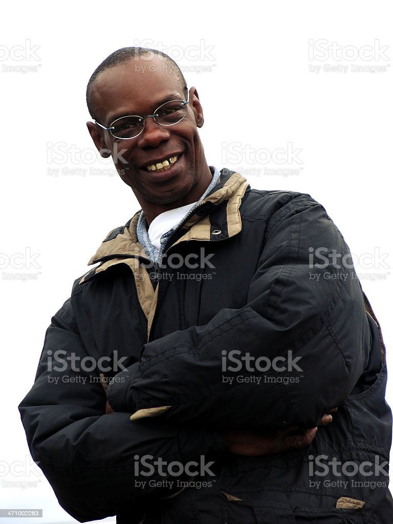 Happy African American Male royalty-free stock photo
