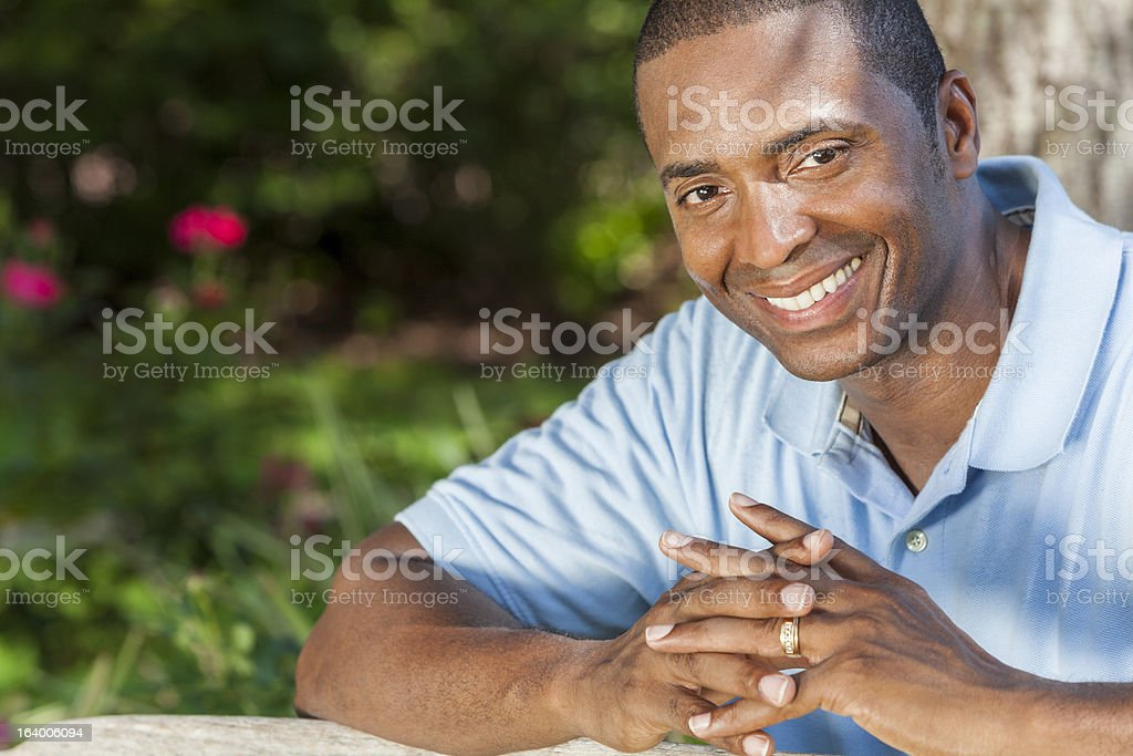 Happy African American Man Smiling royalty-free stock photo