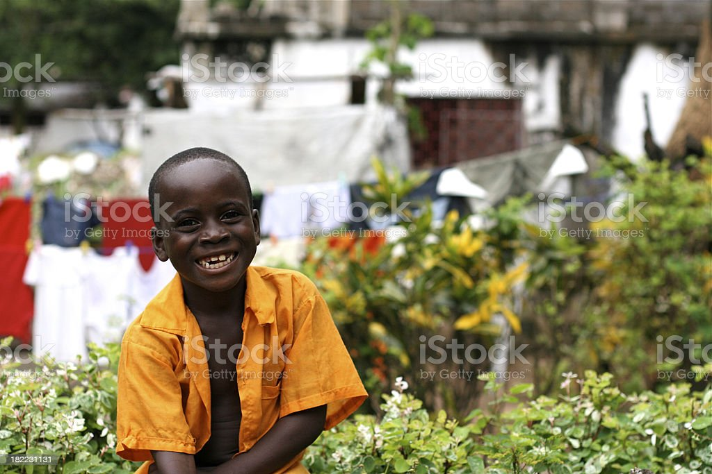 Happy African Boy stock photo
