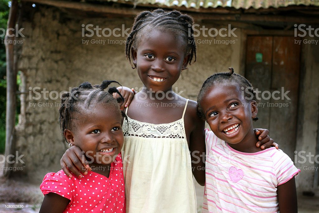 Happy African Girls royalty-free stock photo
