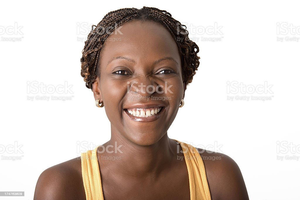 Happy African Woman royalty-free stock photo