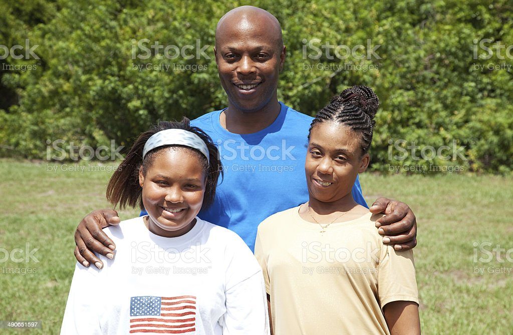 Happy African-American Family stock photo