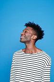 Happy afro american guy