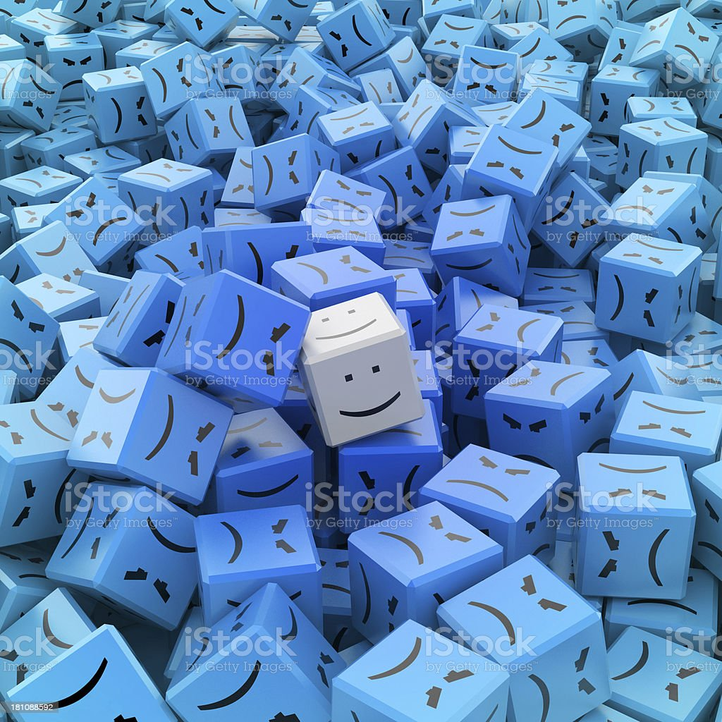 Happy and alone royalty-free stock photo