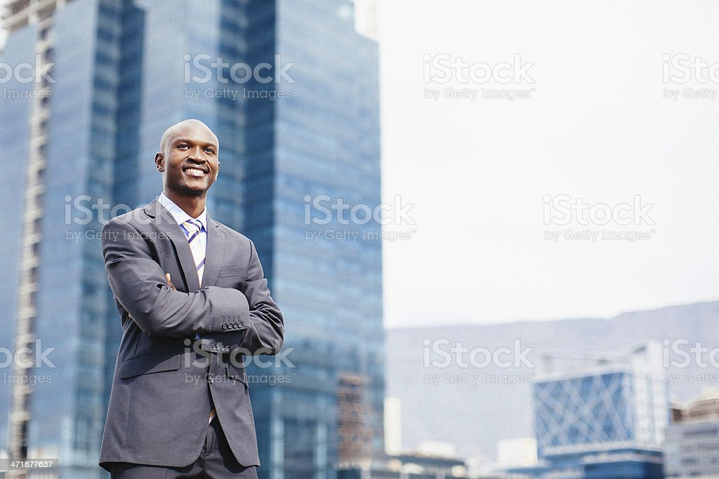 Happy and Confident African Businessman. royalty-free stock photo
