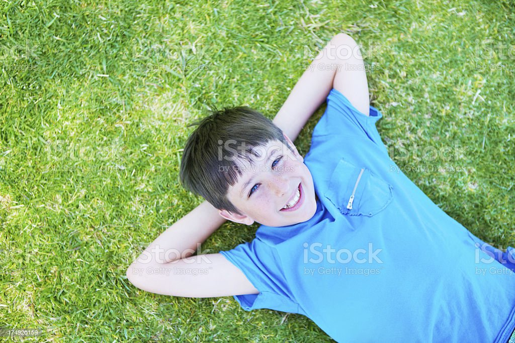 Happy and content royalty-free stock photo