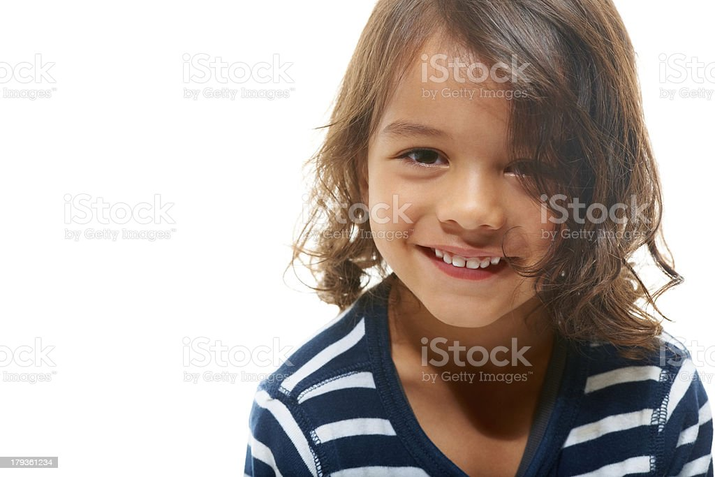 Happy and cute royalty-free stock photo