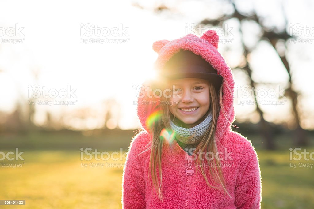 Happy and cute stock photo