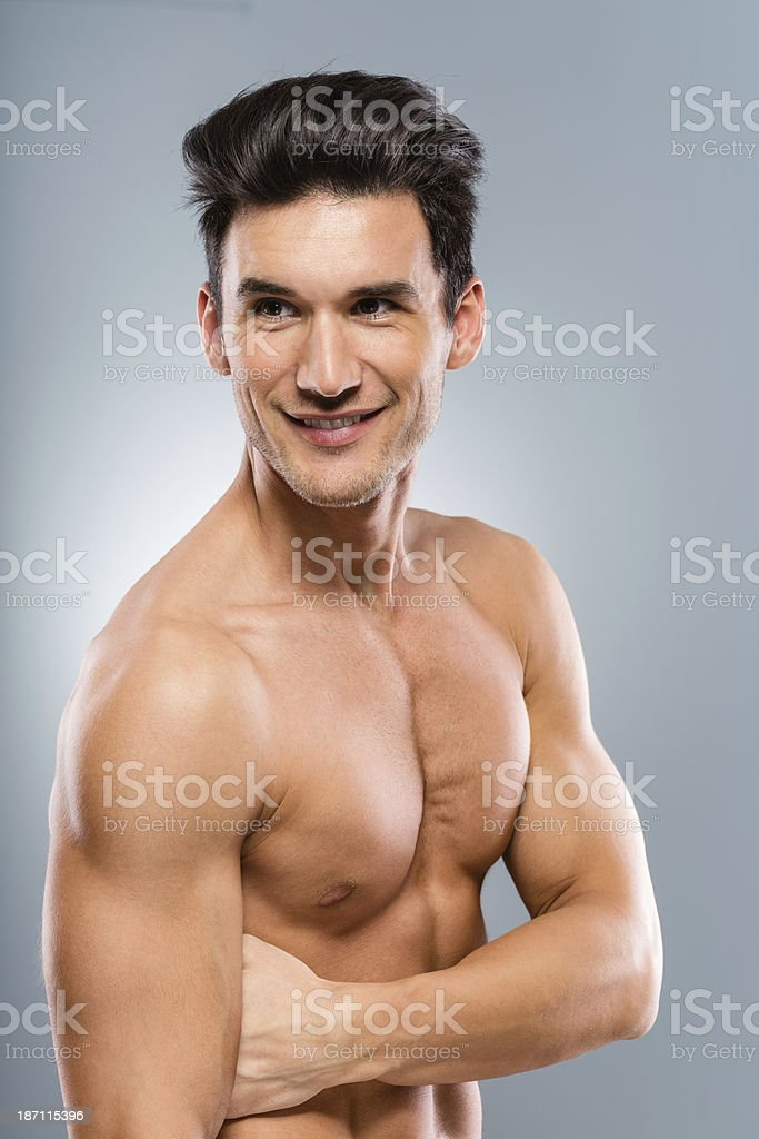 Happy and healthy young man royalty-free stock photo