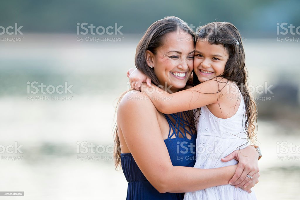 Happy and Mother stock photo