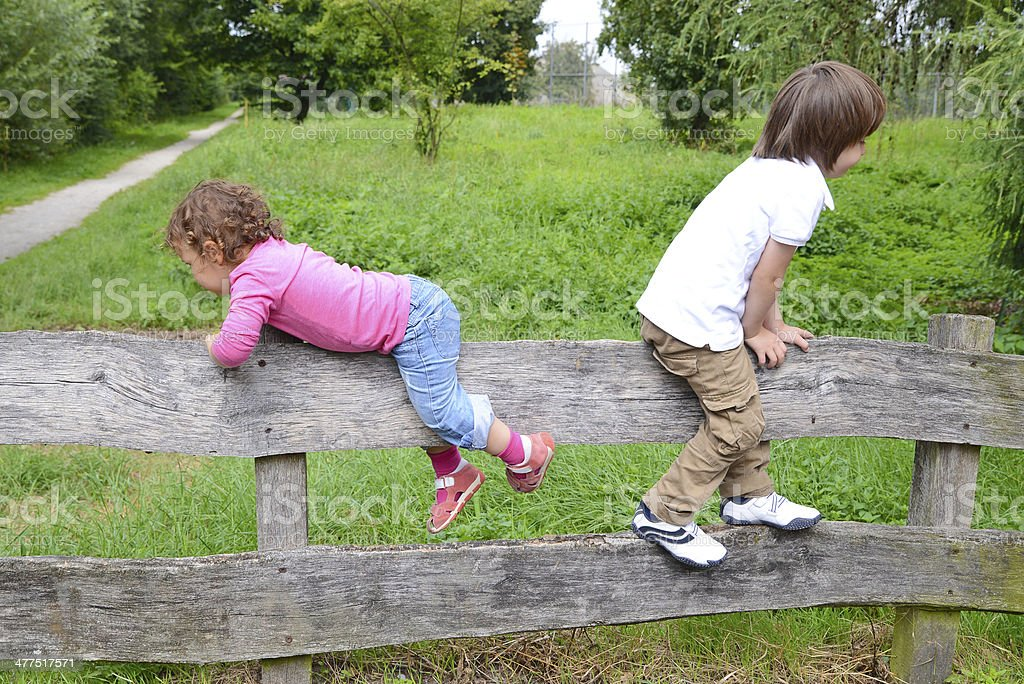 Happy and playful children stock photo