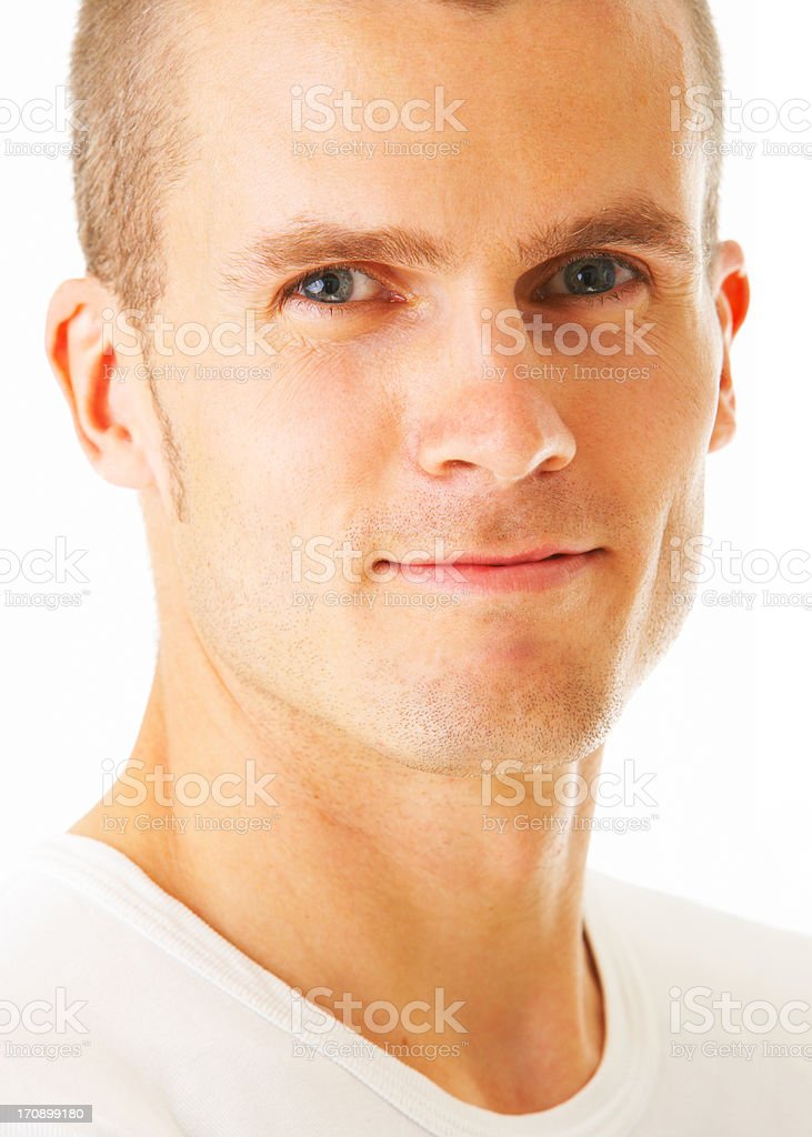 Happy and satisfied royalty-free stock photo
