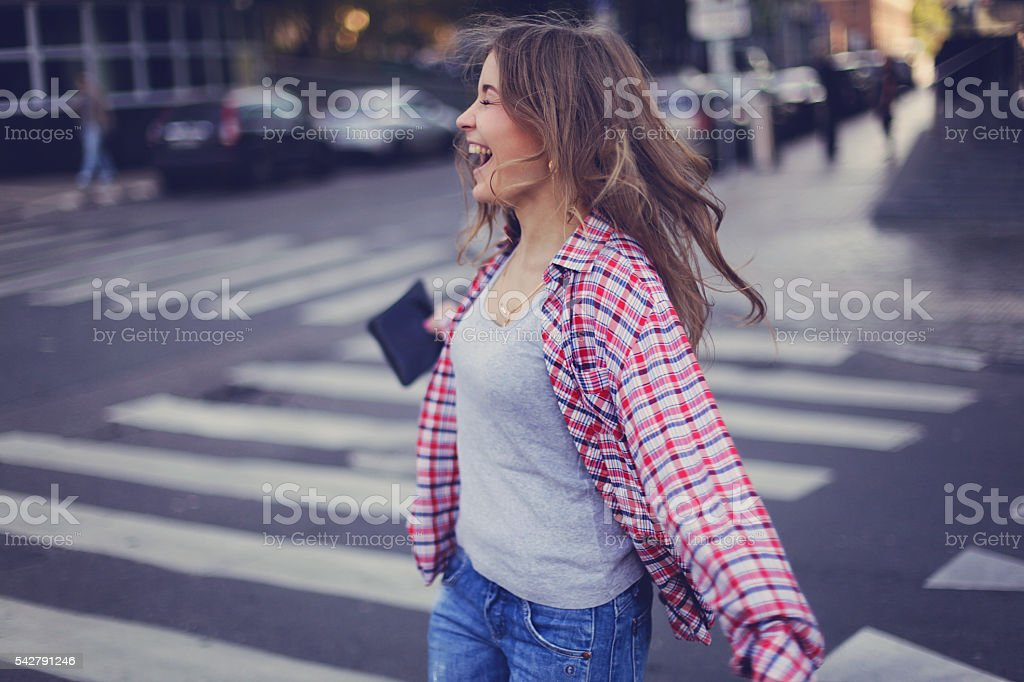 Happy and whirling stock photo