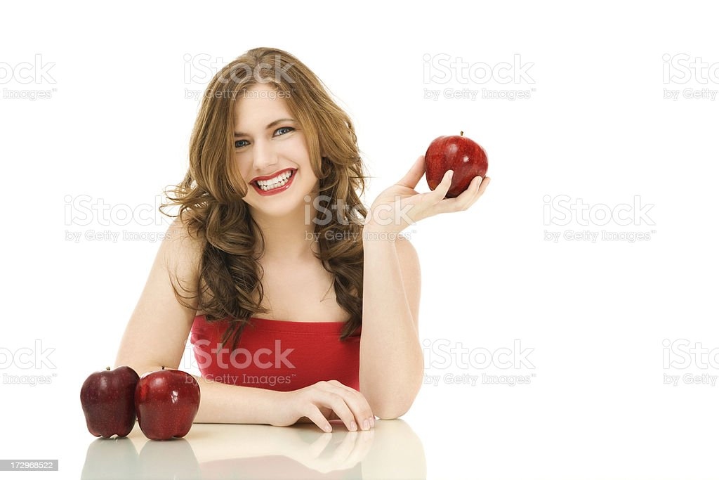 Happy Apples royalty-free stock photo
