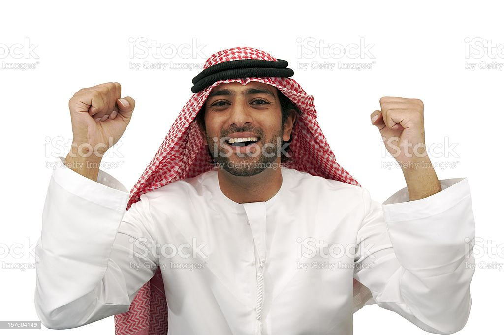 Happy Arab business man royalty-free stock photo