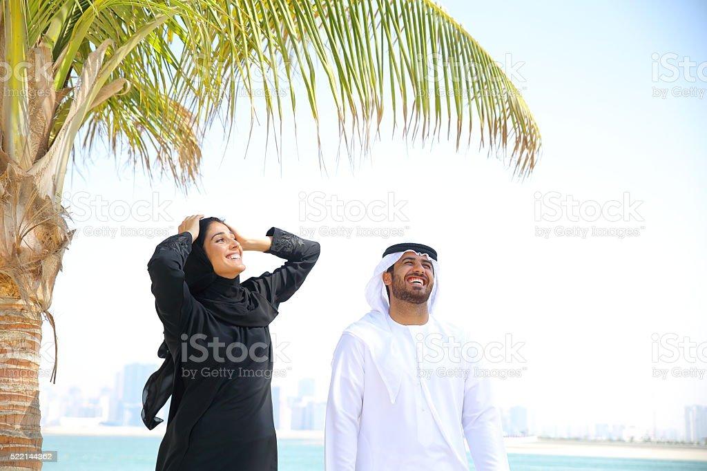 Happy Arab Couple stock photo