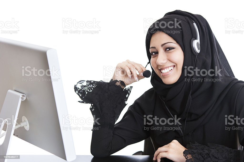 Happy Arab office girl royalty-free stock photo