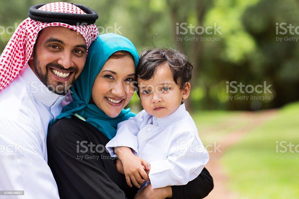 happy Arabic family stock photo