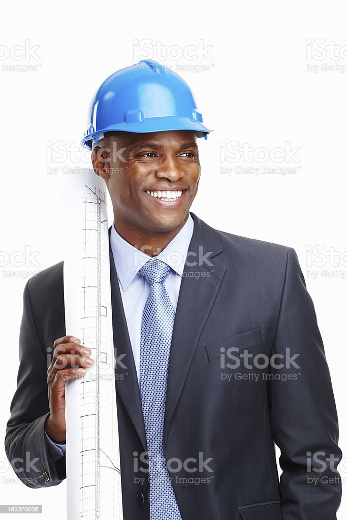 Happy architect excited about new project royalty-free stock photo