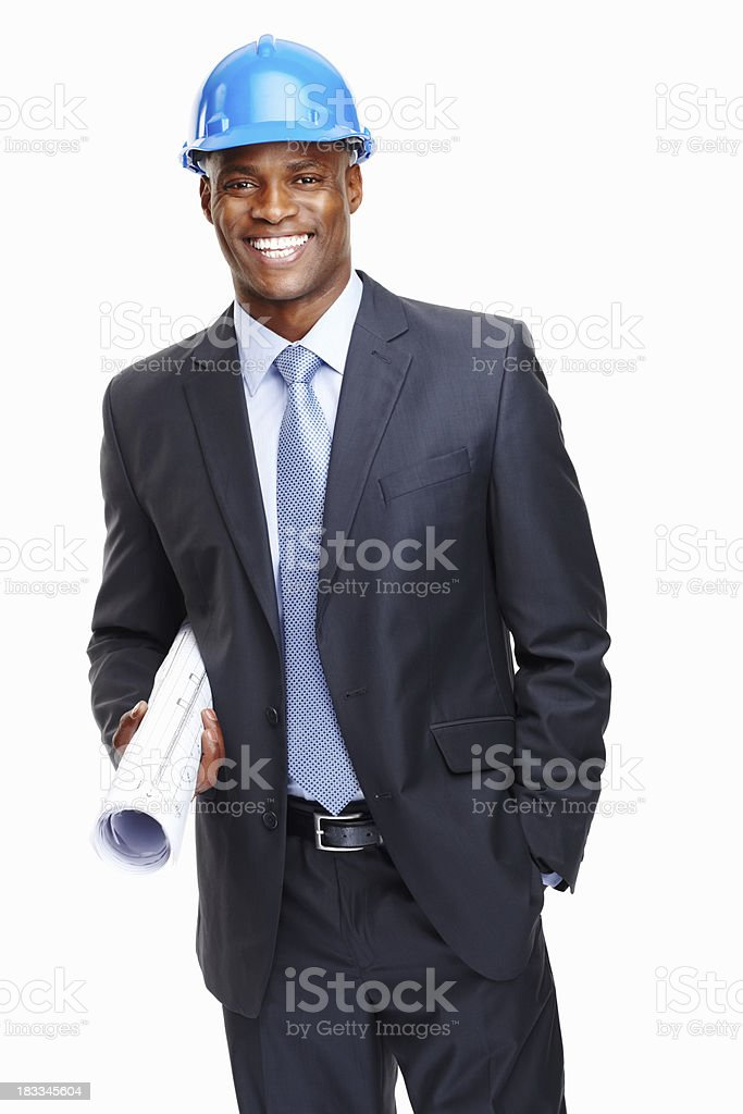 Happy architect excited about project royalty-free stock photo