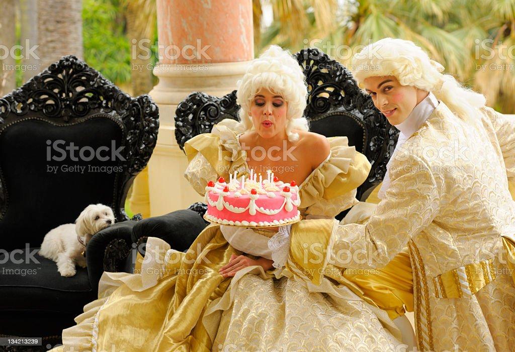Happy Aristocratic Birthday with Cake stock photo