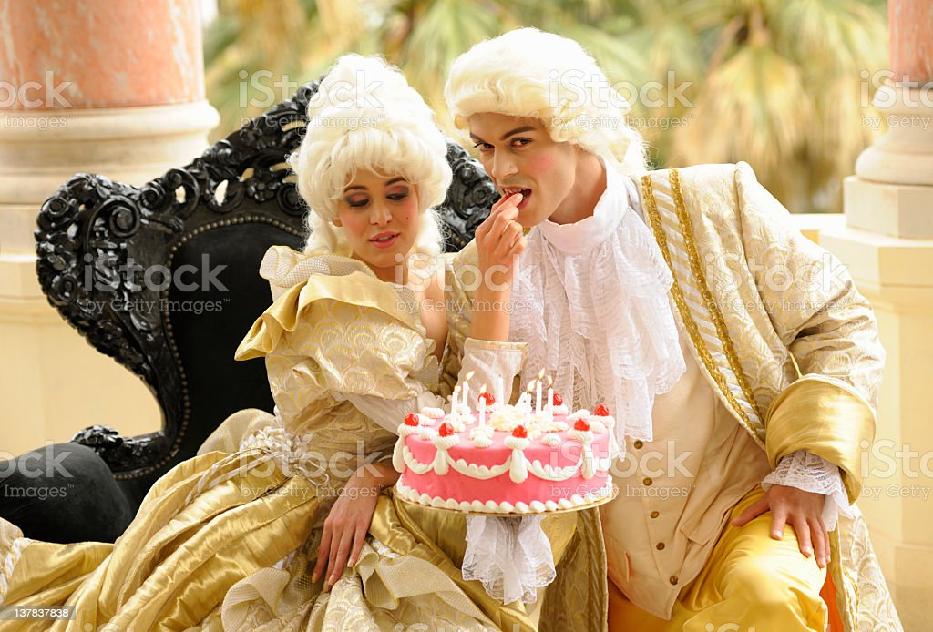 Happy Aristocratic Birthday with Tempting Cake royalty-free stock photo